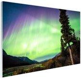 Noorderlicht foto afdruk Glas 120x80 cm - Foto print op Glas (Plexiglas wanddecoratie)