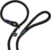 Nobby fun retriever lijn lijn en halsband in 1 zwart 0,9 x 170 cm - 1 st