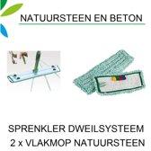Greenspeed Sprenkler vlakmopset voor natuursteen