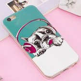 Let op type!! For iPhone 6 & 6s Noctilucent IMD Dog Pattern Soft TPU Back Case Protector Cover