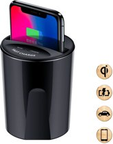 DrPhone SCION-X - Auto Car Fast Wireless Charger Cup Qi Draadloze Oplader - 10W/7.5W/5w  Voor alle auto's met een kophouder