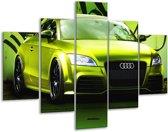 Glasschilderij Audi | Groen, Zwart | 100x70cm 5Luik | Foto print op Glas |  F003676