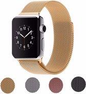 Milanese Loop Armband Voor Apple Watch Series 1/2/3 42 MM Iwatch Metalen Milanees Horloge Band - Goud Kleurig