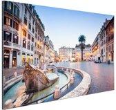 Piazza di Spagna Rome Aluminium 120x80 cm - Foto print op Aluminium (metaal wanddecoratie)