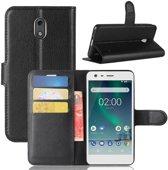 Nokia 2 Book Case Hoesje - Zwart