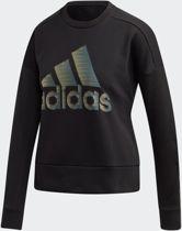 adidas W Id Glam Sweat Dames Sporttrui - Black - Maat  XS