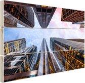 Zonsopgang in Chicago Hout 60x40 cm - Foto print op Hout (Wanddecoratie)