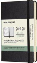 Moleskine18 maanden agenda 2019-2020 - Wekelijks - Pocket (9x14 cm) - Zwart - Harde kaft