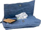 Colibries birch hoes babydoekjes Denim - doos billendoekjes - duurzaam - wasbaar papieren - blauw