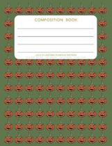 Jack O'Lantern Pumpkin Pattern - Composition Book: College Ruled - 200 pages - 100 Sheets - 7.44''x 9.69''