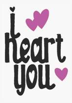 I heart you: great girlfriend gift: Romantic Journal or Planner loving gift for girlfriend, Elegant notebook special gift for girlf