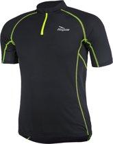 Rogelli Perugia Jersey SS Fietsshirt - Heren - Maat XL - Zwart/Geel