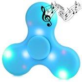 Hand Spinner LED verlichting Bluetooth Speaker Blauw