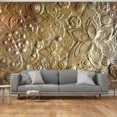 Fotobehang - Gouden muur