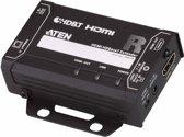 Aten VE811 audio/video extender AV transmitter & receiver Zwart
