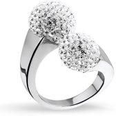 943281943-62 - Zilveren Ring Wit zirkonia Rhodium