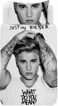 Justin Bieber What do you mean - Dekbedovertrek - Eenpersoons - 140 x 200 cm - Multi
