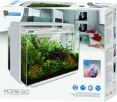SuperFish Home 80 LED Aquarium - Wit - 80L - 65 x 31 x 53 cm