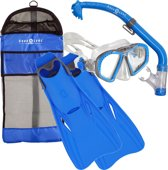 Aqua Lung Sport Zipper Set - Snorkelset - Kinderen - M (32-36) - Blauw