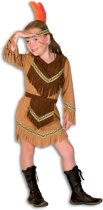 Indiaan Kostuum | Spiedende Uil Indiaan Kentucky | Meisje | Maat 164 | Carnaval kostuum | Verkleedkleding