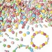 Gekleurde zee kralen - shelpen vissen zeester zeepaardje - creatieve knutselpakket/kralenset voor kinderen en volwassen voor armband en sieraden maken (400 stuks)
