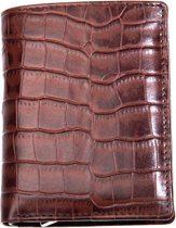 Leather Design – Billfold & Figuretta cardprotector – croco brown
