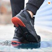 M.O.H.E. Safety Sneakers - Werkschoenen - Veiligheidsschoen - Stalen neus - Flexibel - Ademend - Licht gewicht - Anti slip – Spijker bestendig - Zwart/Rood - maat 45