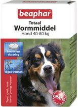 Beaphar Totaal Wormmiddel - Hond XL 40-80 kg - 8 Tabletten