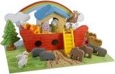 Playwood - Ark van noach rood met grondplaat; inclusief dieren
