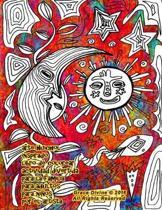 arte Huichol inspirado libro de colorear actividad divertida para la familia para adultos para ni os por el artista Grace Divine
