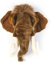 Wild&Soft- Wanddecoratie dierenkop pluche mammoet Arthur