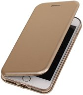 BestCases.nl Goud Premium Folio leder look booktype smartphone hoesje voor Apple iPhone 7 / 8