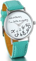 Zoëies® whatever I'm late horloge groen