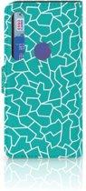 Motorola Moto G8 Plus Hoesje Design Cracks Blue