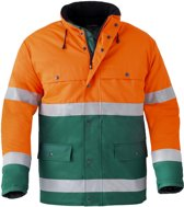 Havep sign. parka    4133 groen/oranje EL