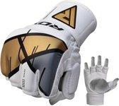 RDX Grappling Gloves REX T7 - Rood S - Leer