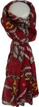 Sjaal Qischa rood