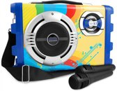 Overmax Portable Idol 3.1 Karaoke set met 2 microfoons, Bluetooth, FM, SD, USB