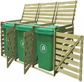 vidaXL Containerberging driedubbel geïmpregneerd hout 240 L