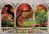 Fotobehang Forest Through Arches   L - 152.5cm x 104cm   130g/m2 Vlies