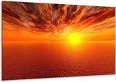 Canvas schilderij Zonsondergang   Geel, Oranje   120x70cm 1Luik