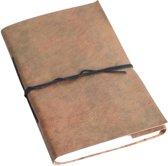 One World Interiors Vora Notitieboek - 13x22cm - Groen - Leer