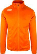 Robey Premier Trainingsjack - Voetbaljas - Orange - Maat XXXXL