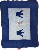 ISI MINI - Boxkleed / Kruipkleed - Marine Blauw - Kroon en Ster - limited edition - 80*100