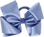 Jessidress Metalliek Haar Elastiek met grote Haarstrik - Blauw