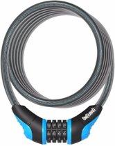 Onguard Kabelslot Coil Neon Combo 180 Cm X 12 Mm Zwart/blauw