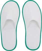 Small Foot Huis- Of Hotelslippers - Slippers - Unisex - Maat 1 maat - Groen/Wit