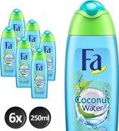 Fa Coconut Water Douchegel - 250ml - 6 stuks