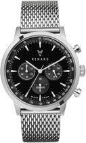 Renard Grande Chrono Silver Black Milanese Silver - RC402SS31MSS - Horloge - Staal - Zilver - 40mm