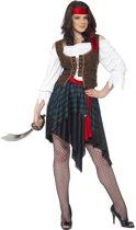 Voordelige piraten pakje voor dames - Piraat verkleedkleding maat 40/42